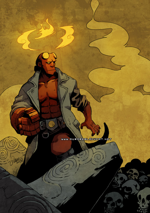 Hellboy -for Zabalou- by auroreblackcat
