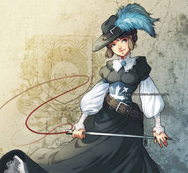 Elinor musketeer by auroreblackcat