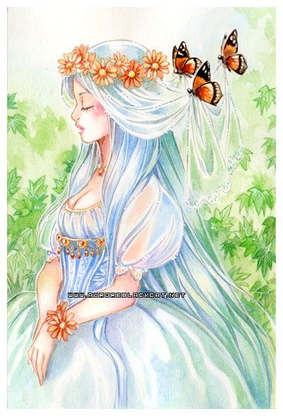 Butterflies -watercolors- by auroreblackcat