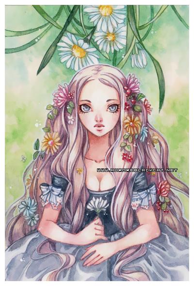 Garden -watercolors- by auroreblackcat