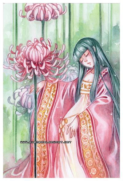 Chrysanthemum -watercolors- by auroreblackcat