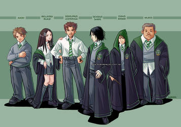 Slytherins by auroreblackcat