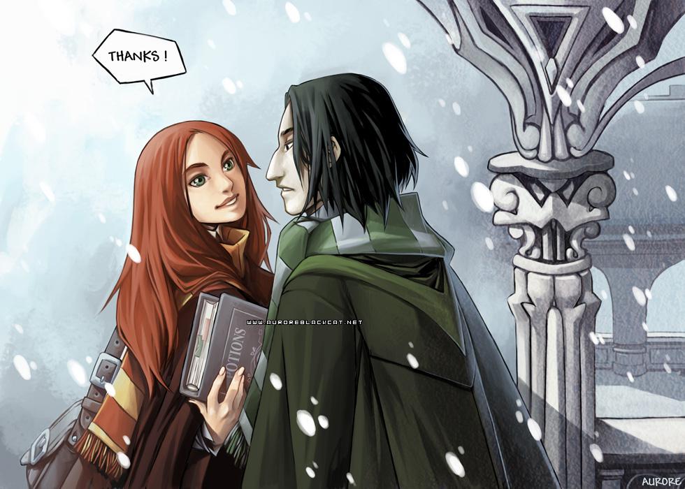 Lily and Severus by auroreblackcat