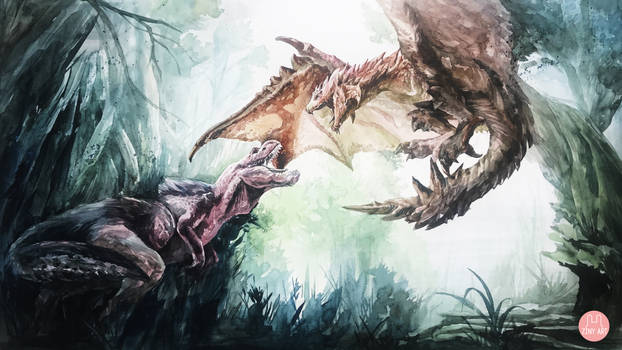 MHW watercolor painting #1