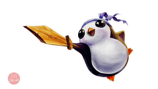 PENGU Feather Knight from LOL Auto Chess