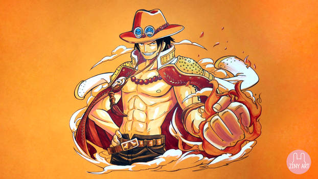 Portgas D. Ace from ONE PIECE - Orange Paper