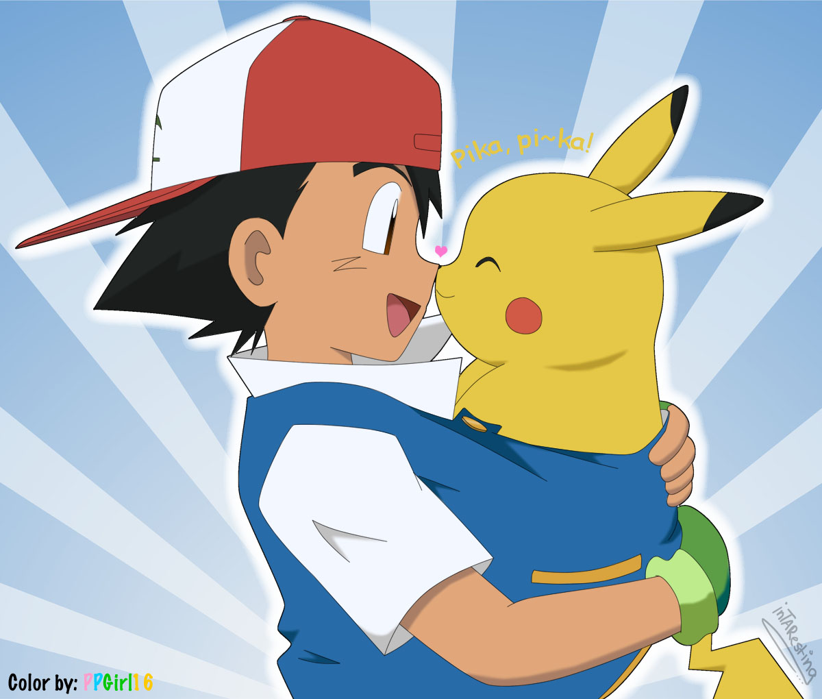 Ash and pikachu by ppgirl on deviantart