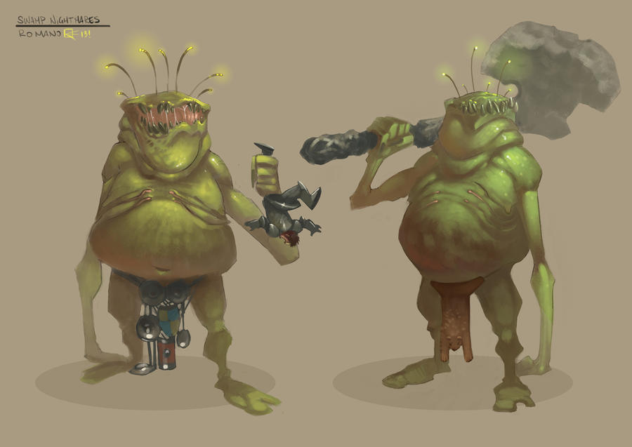 Swamp Nightmares by gianlucaromano
