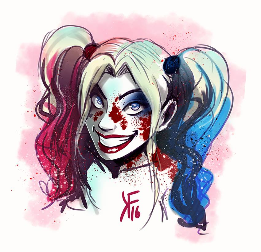 Harley Quinn [Suicide Squad] -  colored sketch by kfcomics