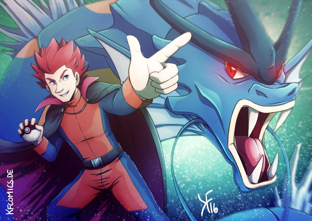 Lance - Elite Four Kanto by kfcomics