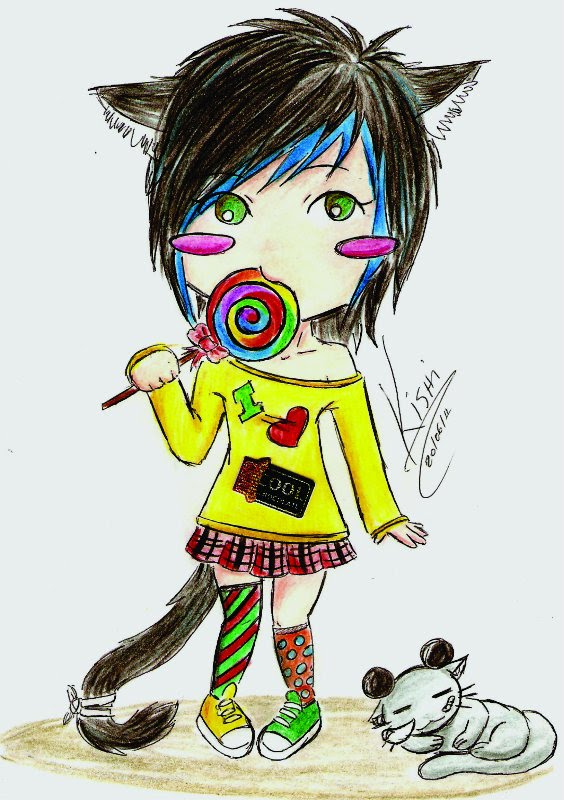 Chibi_and_Lollipop by KishiHana