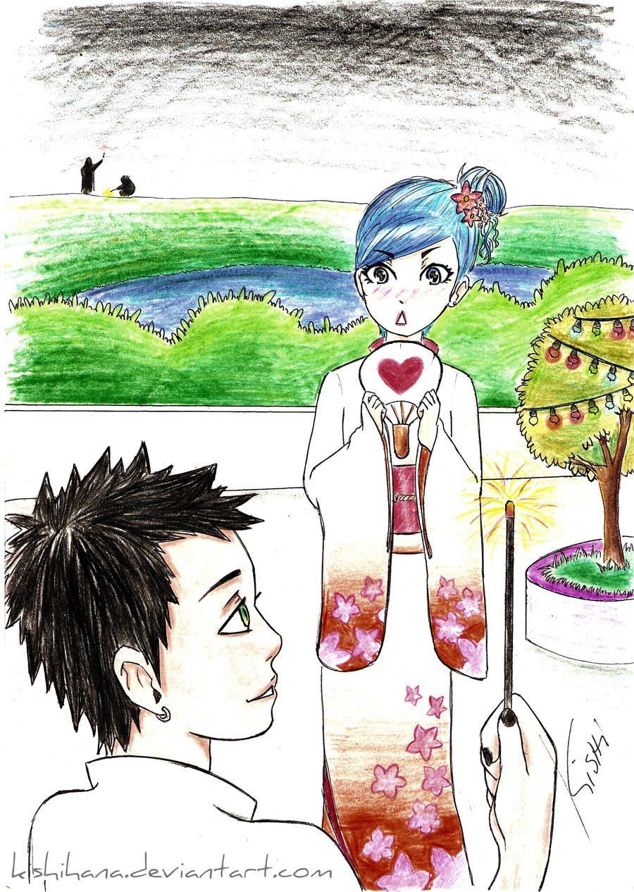Couple at the Festival by KishiHana