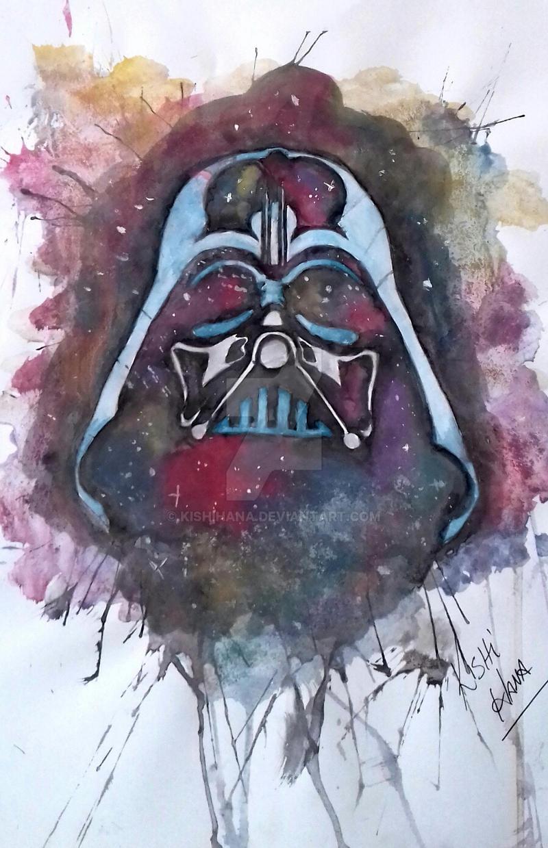 Darth Vader em Aquarela by KishiHana