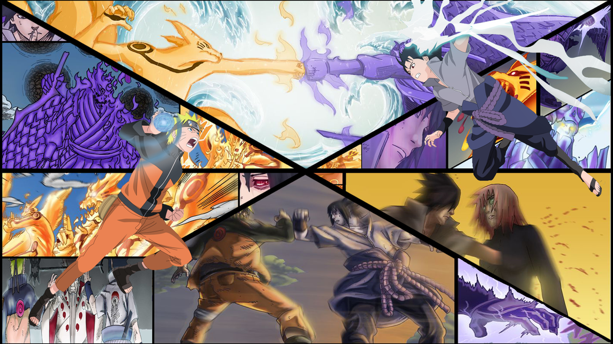 Naruto vs Sasuke Wallpaper by adriancs35 on DeviantArt