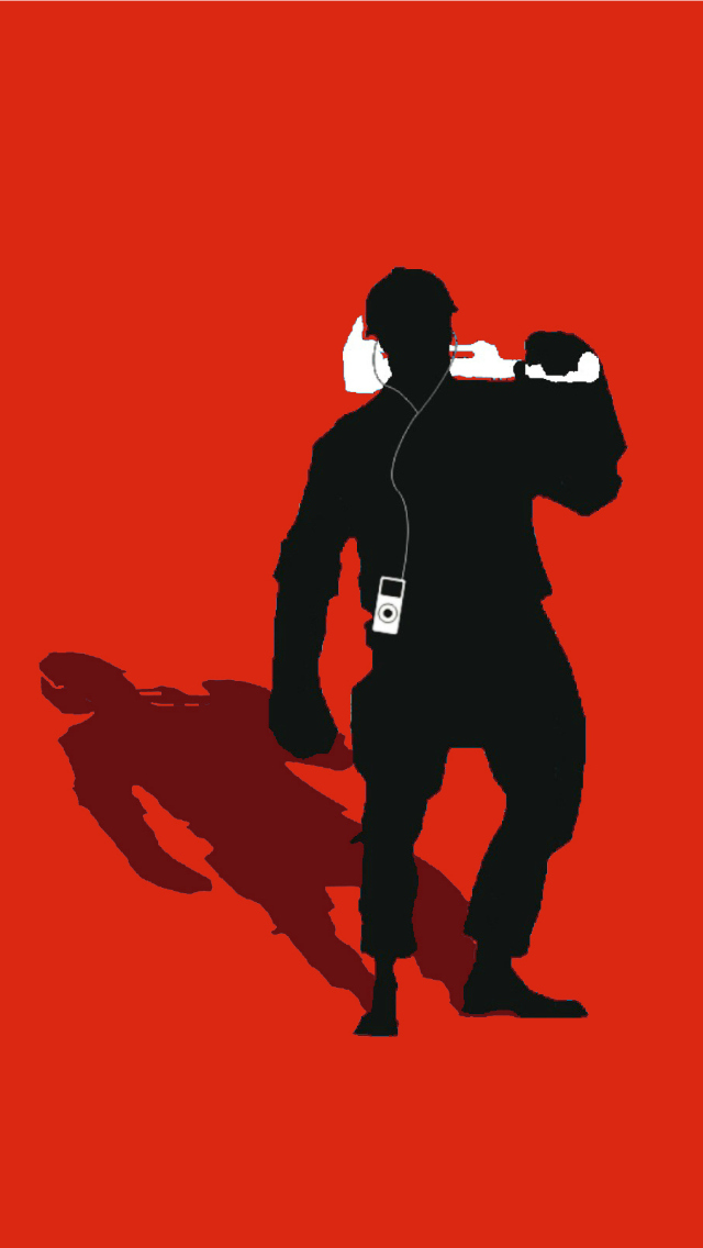 TF2 Red Scout Silhouette Earbuds for iPhone5 by cwegrecki on ...