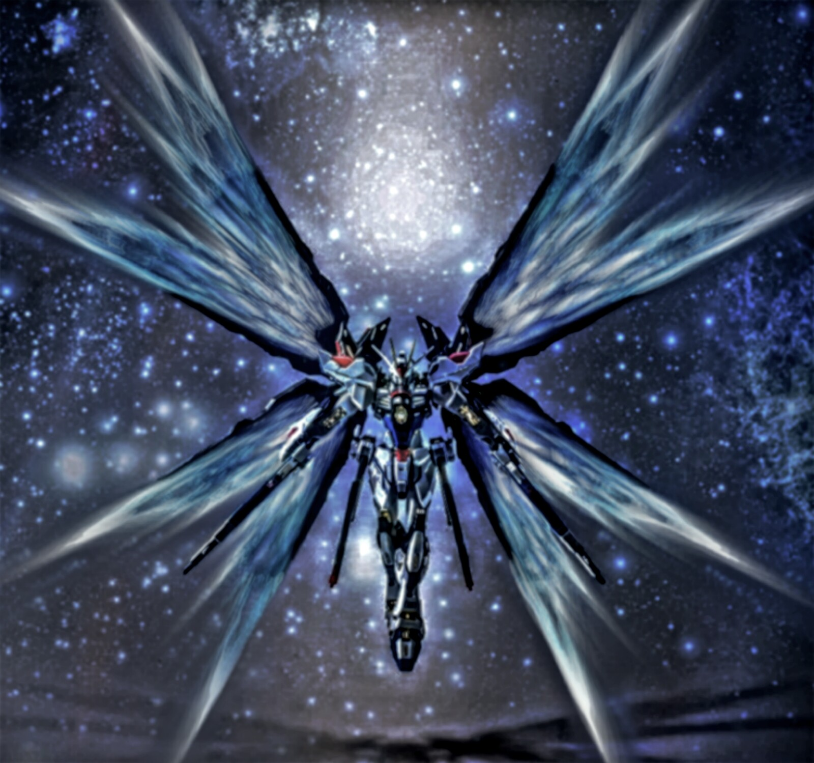 The ZGMF-X20A Strike Freedom also produced a light effect known as the