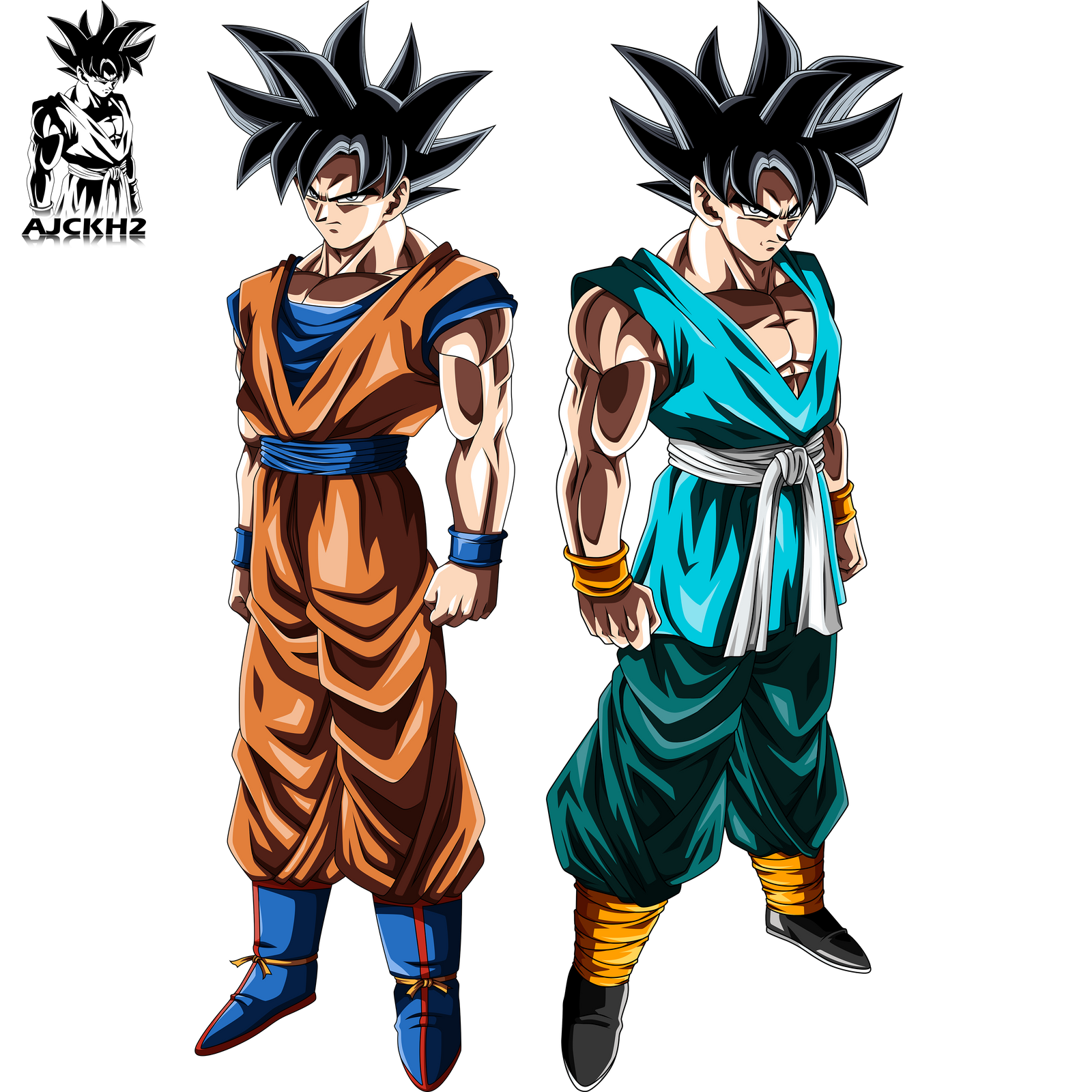 Dragon Ball Super Ultra Instinct Drawing: Son Goku Ultra Instinct Forms By Ajckh2 On DeviantArt