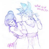 Goku e Chichi by YukiOshi on DeviantArt