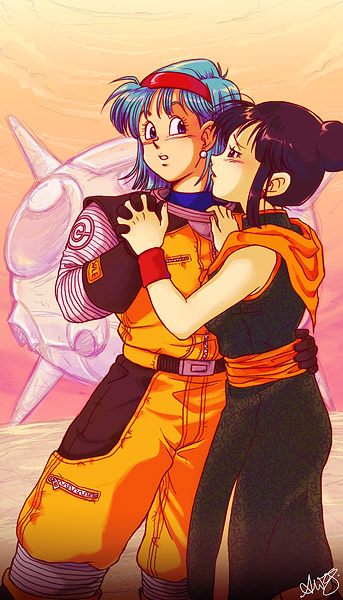 Bulma And Chichi Kiss
