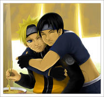 Food + Friends: Naruto and Sai by Glay