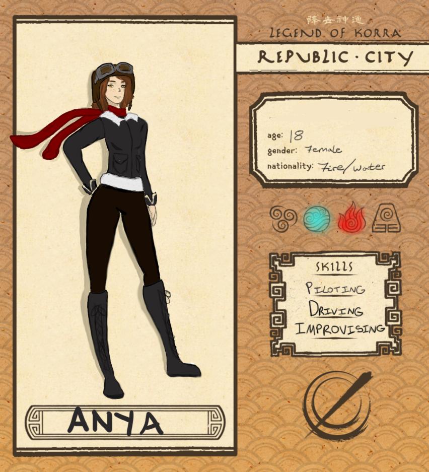 #Republic City OC - Anya by KateriTekakwitha