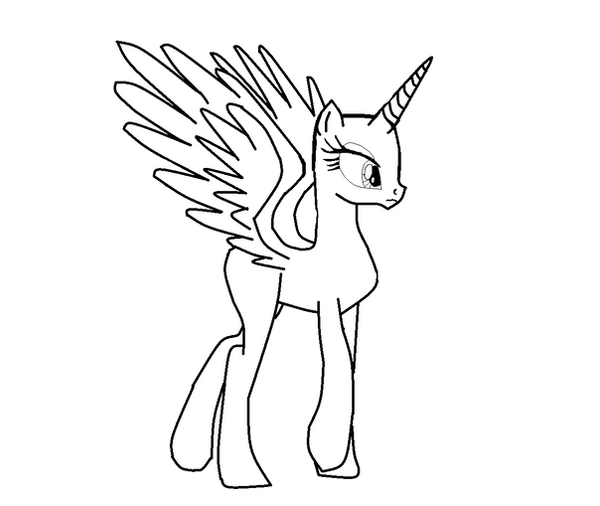 My Little Pony Base Coloring Pages Wing