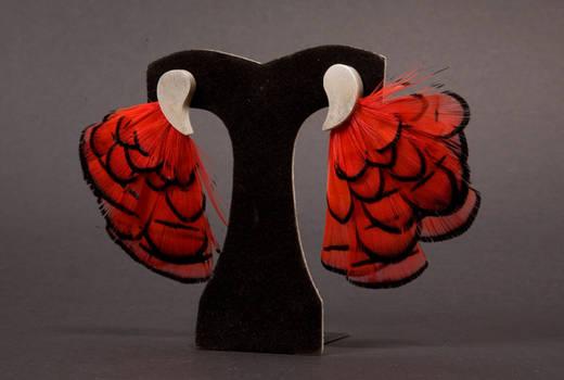 Flamenco dancer earrings