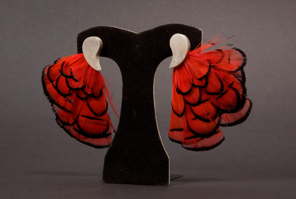 Flamenco dancer earrings by bionic-dingo