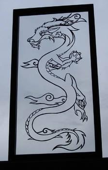 Dragon paper cut