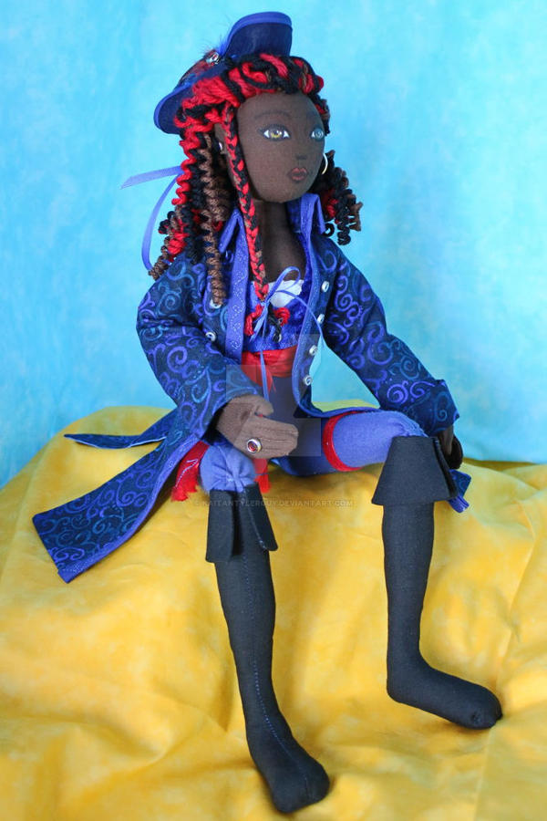 Pirate Queen cloth art doll by KaitanTylerguy