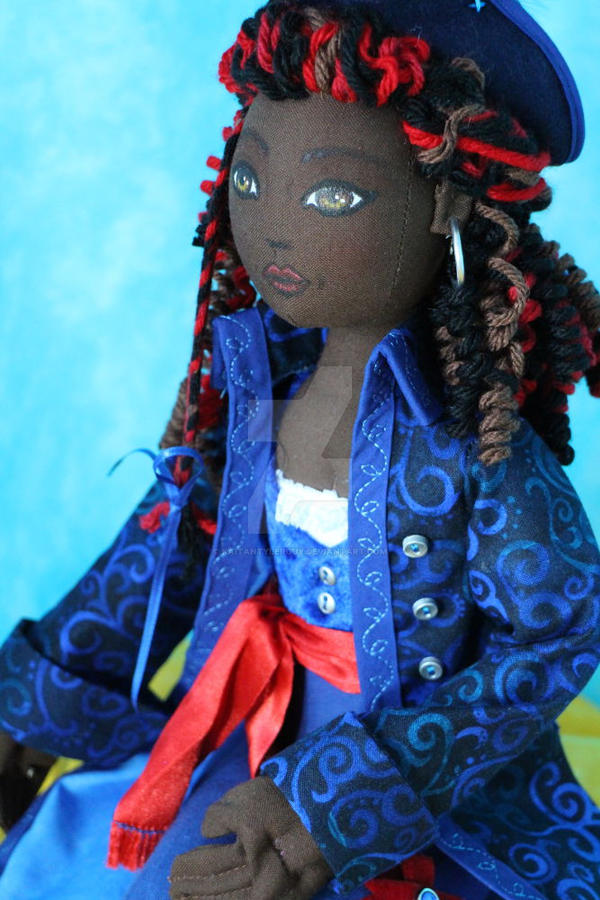 Pirate Queen Cloth art doll 3 by KaitanTylerguy