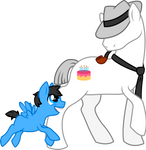 Pony Dadbert and little John