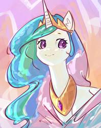 Princess Celestia sketch by mirroredsea