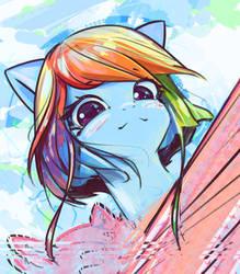 RainbowPortraitSketch by mirroredsea