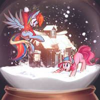 snowballfight by mirroredsea