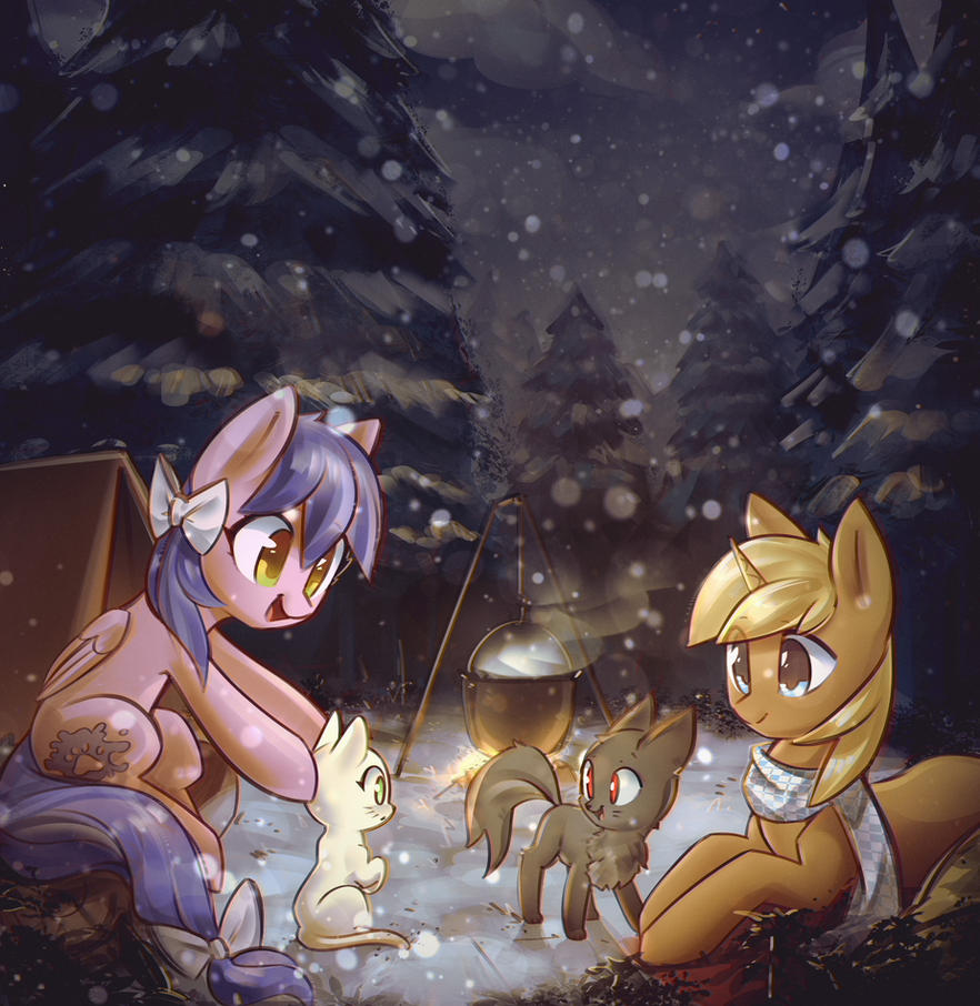 Camping Out by mirroredsea