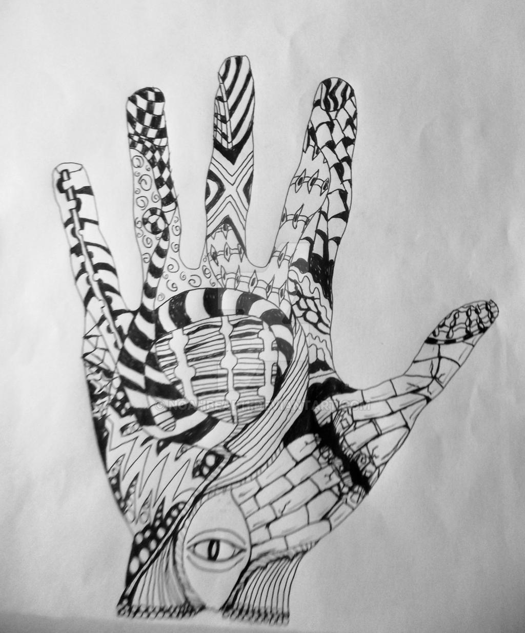 Zentangle Hand by Noah...