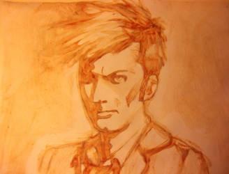 10th Doctor Ketchup Drawing by NoahBear11