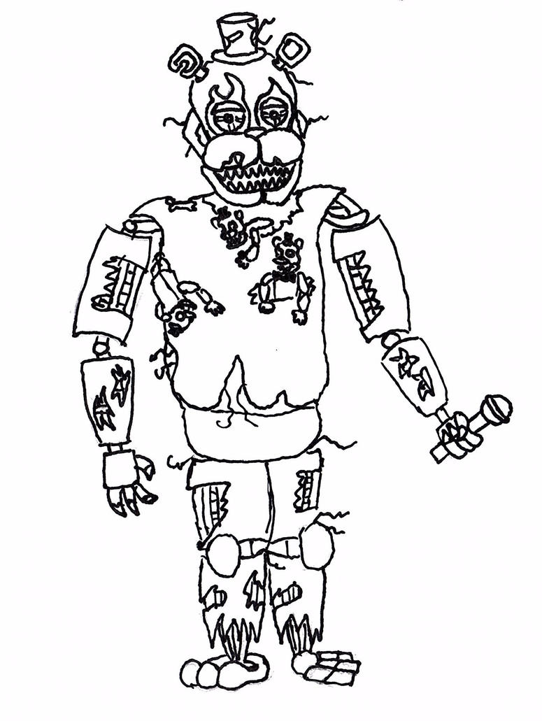Nightmare Freddy Coloring Sheet Coloring Pages