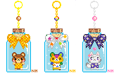 Animal Crossing Bottle Charms by foxpill