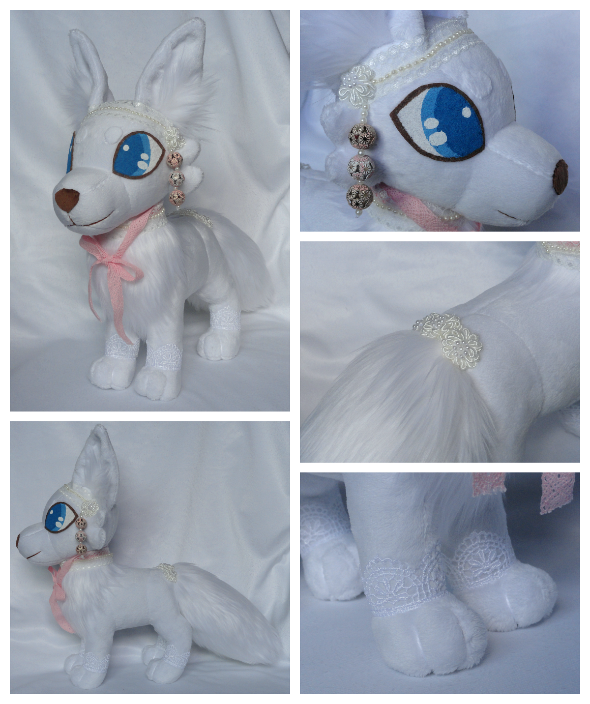 Arctic fox plushie for sale by foxpill on deviantart