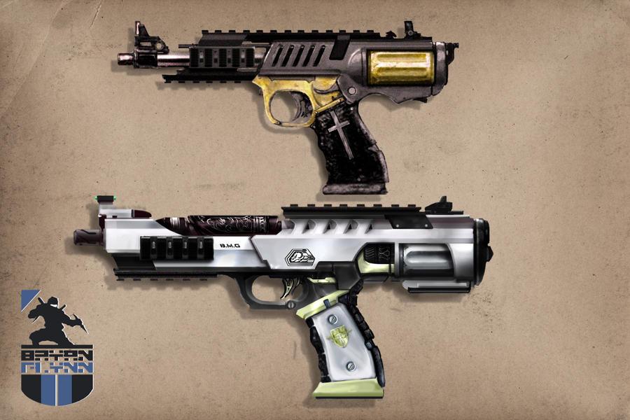 BULLpup Revolvers by bflynn22