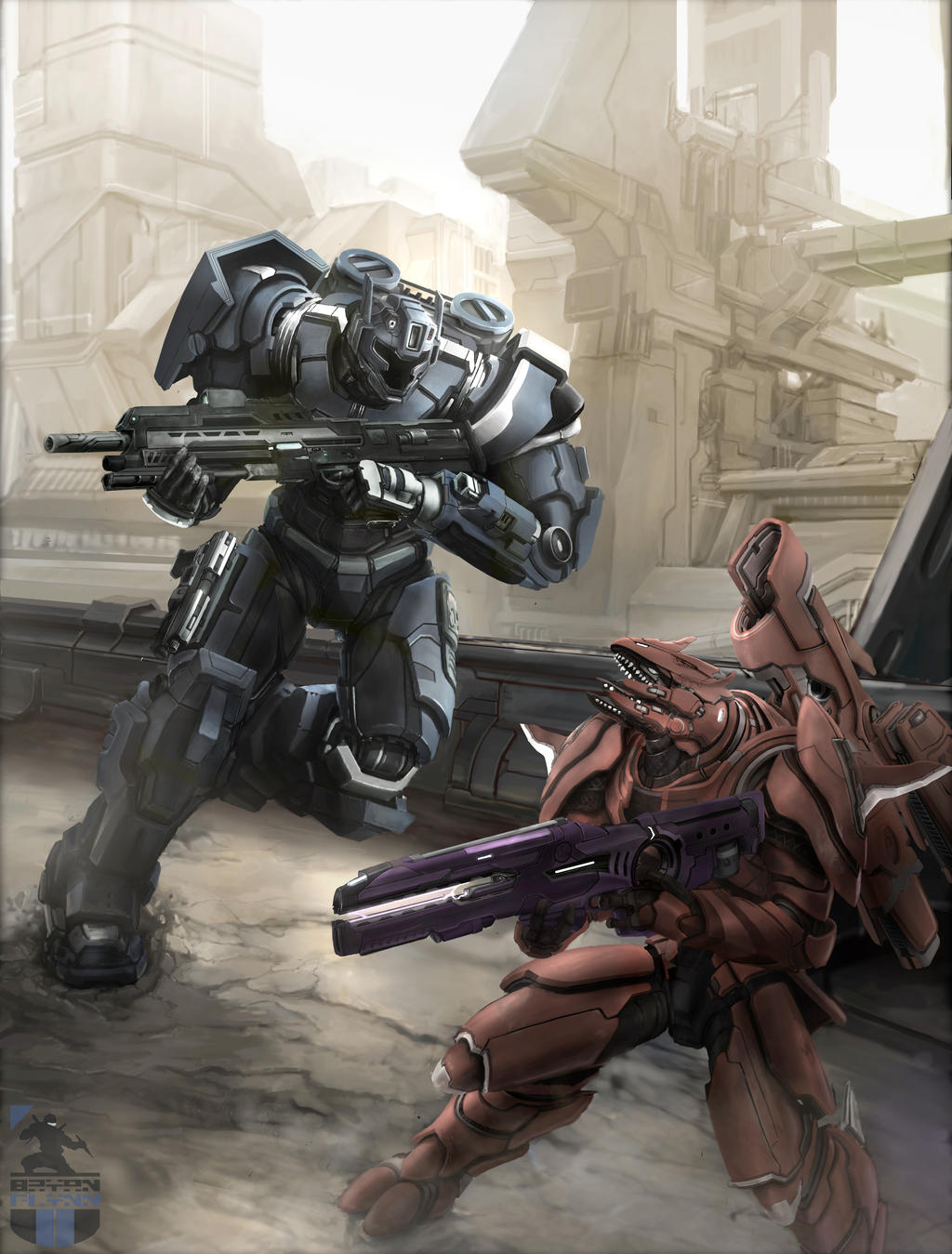 Spartan MKII-0X vs. Elite Flight Custom by bflynn22