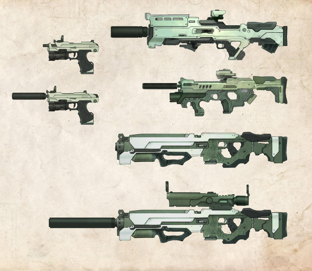 DS Prototype Weapons by bflynn22