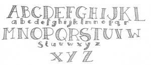Dodgy tattoo font