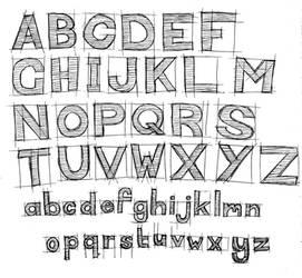 Contructive font by hatestock