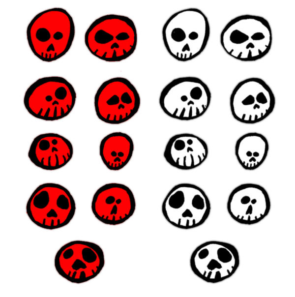 Skulls by hatestock
