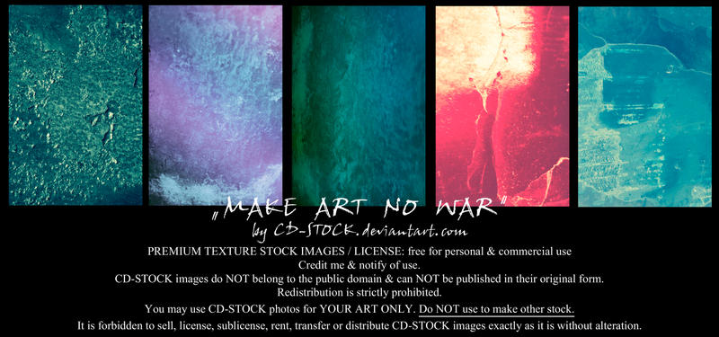 Make Art No War Premium Stock by CD-STOCK