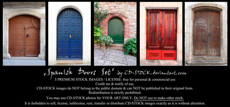 Spanish Doors Set by CD-STOCK by CD-STOCK
