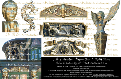 Ship Golden Decoration PNG Preview by CD-STOCK by CD-STOCK